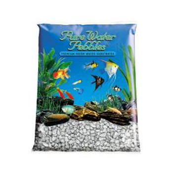 World Wide Imports Pure Water Pebbles Premium Fresh Water Substrates Silver Frost 25lb