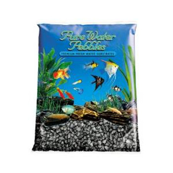 World Wide Imports Pure Water Pebbles Premium Fresh Water Substrates Black Frost 25lb