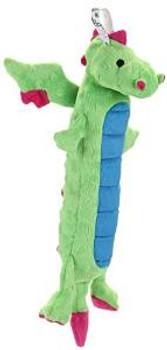 WORLDWISE Godog Skinny Dragon Green W/chew Guard Small