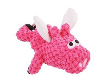 WORLDWISE Godog Just For Me Pink Flying Pig Checkers With Chew Guard
