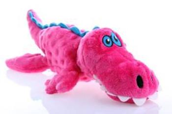 WORLDWISE Godog Gators Large Pink With Chew Guard Technology Tough Plush Dog Toy