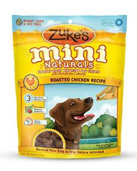 Zukes Mini Naturals Healthy Miniature Dog Treats Chicken 6oz