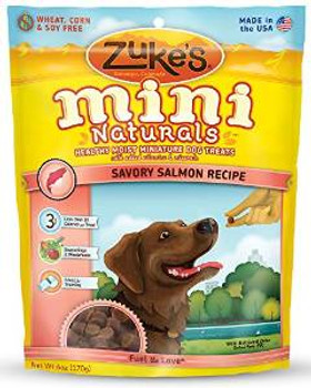 Zukes Mini Naturals Healthy Miniature Dog Treats Salmon 6oz