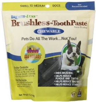 Ark Naturals Breath-less Chewable Brushless Toothpaste Small/medium 12 Ct.