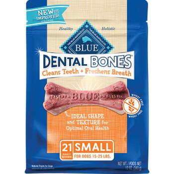 BLUE BUFFALO DOG SMALL DENTAL BONES CHEW 12OZ
