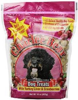 Charlee Bear Turkey Liver & Cranberry Dog Treats 16 Oz. Pouch (each)