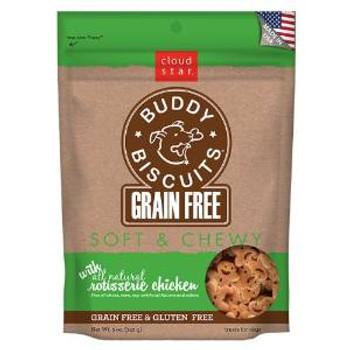 Cloud Star Grain Free Soft & Chewy Buddy Biscuits Dog Treats - Rotisserie Chicken 5oz