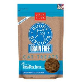 Cloud Star Grain Free Buddy Biscuits For Cat - Tempting Tuna 3oz