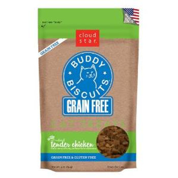 Cloud Star Grain Free Buddy Biscuits For Cats - Tender Chicken 3oz