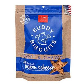 Cloud Star 6/20 Oz. Original Soft & Chewy Buddy Biscuits Dog Treats - Bacon & Cheese Value Bag