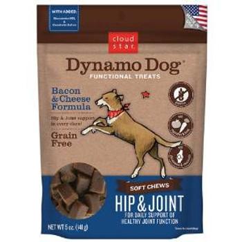 Cloud Star Dynamo Dog Functional Treats: Hip & Joint - Bacon & Cheese 5 Oz.