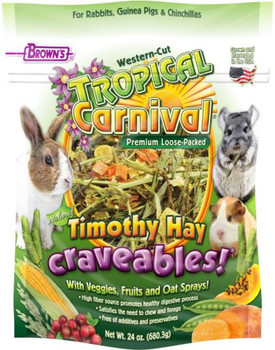 F.M Brown's Tropical Carnival Natural Timothy Hay Craveables! 24Z