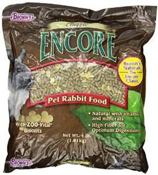 F.M. Brown's Encore Cls Rab Food 4 Lbs Case of 8
