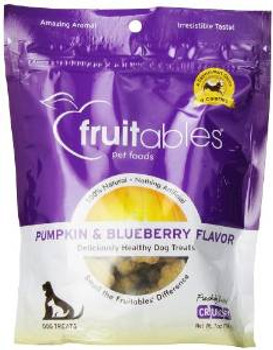 Fruitables Dog Treats Pumpkin & Blueberry 7 Oz.