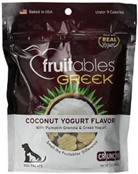 Fruitables Greek Coconut Yogurt Dog Treat 7z Case of 8