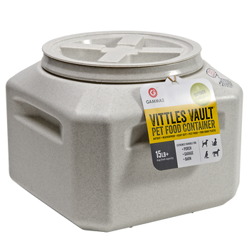 """The Vittles Vault 15 is just right for keeping your pet food fresh in that small space with the space efficient square style shape. They are absolutely Airtight to keep your pet food fresh. The easy grip molded handles make it easy to move even when"""""""
