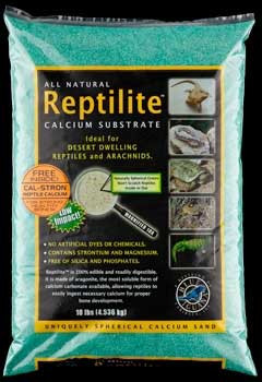 Caribsea All Natural Reptile Calcium Substrate Rainforest Green 10lb
