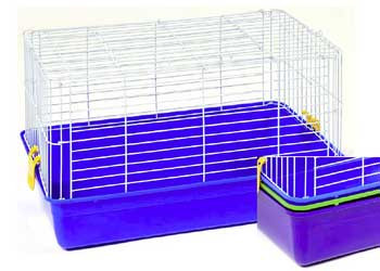 Prevue Pet Products Pre-packed Guinea Pig And Rabbit Cages 26x13x15 3 color 4 pk