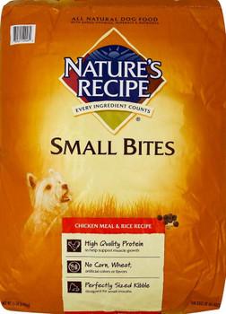 Nature's Recipe Small Bites Chicken Meal & Rice Recipe 15lb