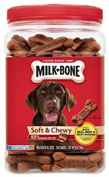 JM SMUCKER Delmonte Milkbone Soft & Chewy Beef Filet Mignon 6/25 Oz.