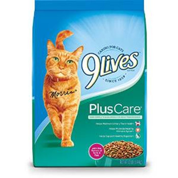 JM SMUCKER 9lives Plus Care Dry Cat Food 12# *repl 799116