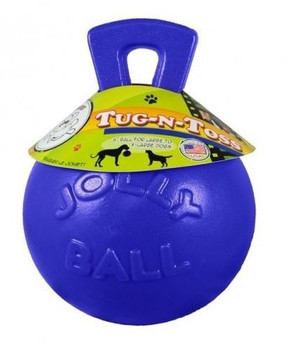 Tug-n-Toss balls are a great interactive toy - the handle makes them easy to retrieve.  These balls float and bounce and do not need  air to inflate!  Low-density polyethylene is puncture resistant and safe for everyone.