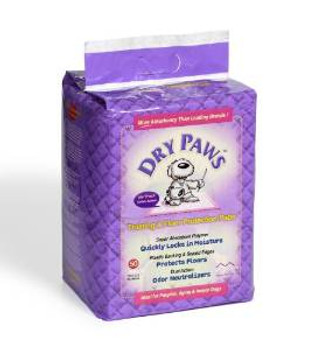 Midwest Pps50 Dry Paw Sm Trn Pad 50pck