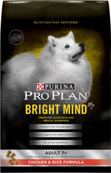Purina Pro Plan Bright Mind Adult 7plus Chicken And Rice Formula Dry Dog Food-16-lb-{L-1}