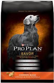 Pro Plan Shrd Blnd 7+ chicken /rc Dog 18 Lbs