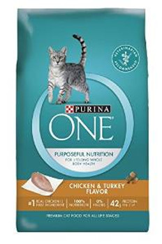 One Adult Cat chicken /tky 16 Lbs