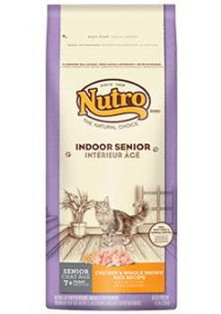 Nutro Natural Choice Indoor Senior Chicken/brown Rice Cat 3# Case of 6 *replaces 791027