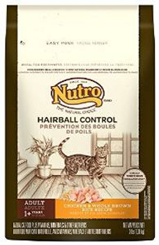 Nutro Natural Choice Hairball Control Chicken/brown Rice Cat 3# Case of 6 *replaces 791018