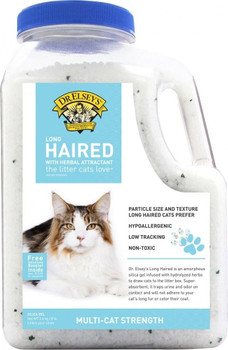 """Precious Cat Long Haired Cat Litter is made from amorphous silic gel infused with hydrolyzed herbs. Long hair crystals are made into a softer texture that cats prefer. The crystals trap urine and odor on contact and prevent bacterial growth to keep y"""""""