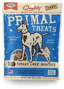 Primal Turkey Liver Munchie Dog Treat 2z