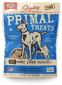 Primal Pork Liver Munchie Dog Treat 2z