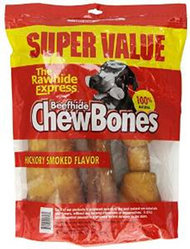 Rawhide Express Chewbones Hickory Assorted 3 Lb.