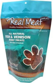 The Real Meat Company Dog Jerky Treats Fish/Venison 12 oz.