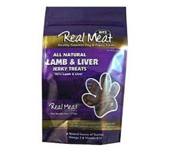 The Real Meat Company 4 Oz. Blitz 95% Lamb Liver Dog Jerky Treats