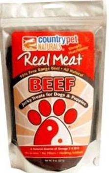 The Real Meat Company Dog Jerky Beef 8 Oz.