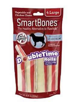 Smartbones Doubletime Rolls Chicken Large 4 Pk