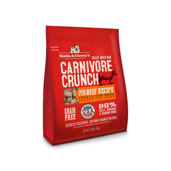 Stella & Chewy's 3.25 oz. Carnivore Crunch For Dogs - Beef {L+1x} 860112