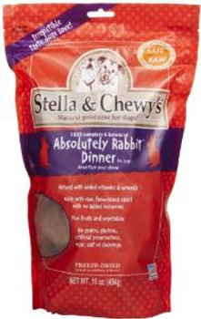 Stella & Chewy's 15 Oz. Freeze-dried Absolutely Rabbit Dinner