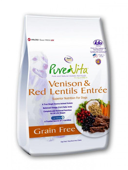 "PureVita Grain Free Venison Dog Food 25lb"""