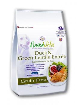 "PureVita Grain Free Duck Dog Food 5lb"""