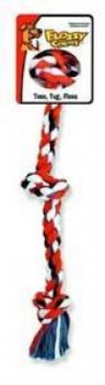 Mammoth Pet Products Cottonblend Color 3 Knot Rope Tug Medium 20in