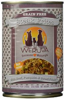 Weruva Steak Frites Can Dog 12/14 Oz.