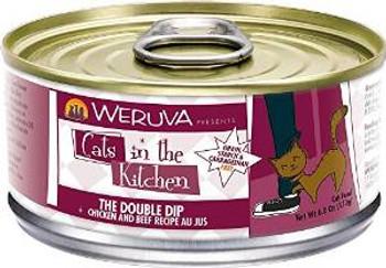 Weruva Chicken & Beef Recipe Au Jus Cans The Double Dip Cat 24/6.0 Oz.