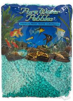 World Wide Imports Pure Water Pebbles Turq Pbbl 6/5 Lbs
