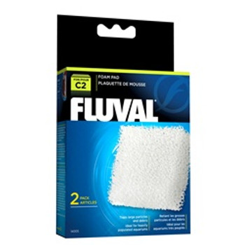 Fluval C2 Foam Pad 2 Pack {requires 3-7 Days before shipping out}