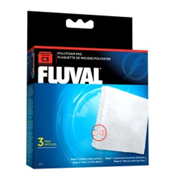 Fluval C3 Poly Foam Pad 3 Pack {requires 3-7 Days before shipping out}